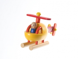 Kinderkamer lamp accessoire: Helicopter groot (Geel)