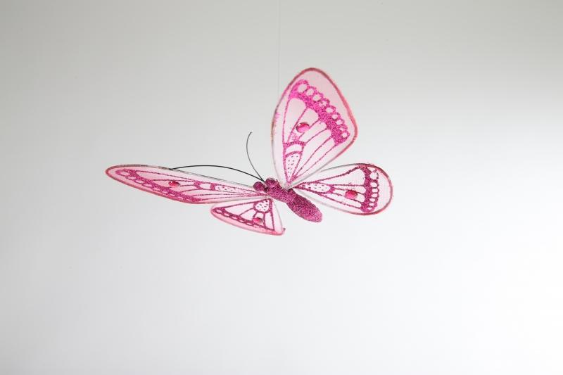 Kinderkamer lamp accessoire: Vlinder doorschijnend (Roze ...