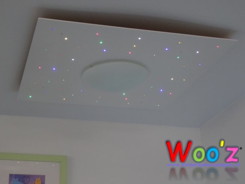 Lamp Kinderkamer Design : Kinderkamer plafondlamp square sparkling white kinderkamerlampen
