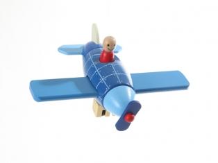Kinderkamer lamp accessoire: Vliegtuig groot (blauw)