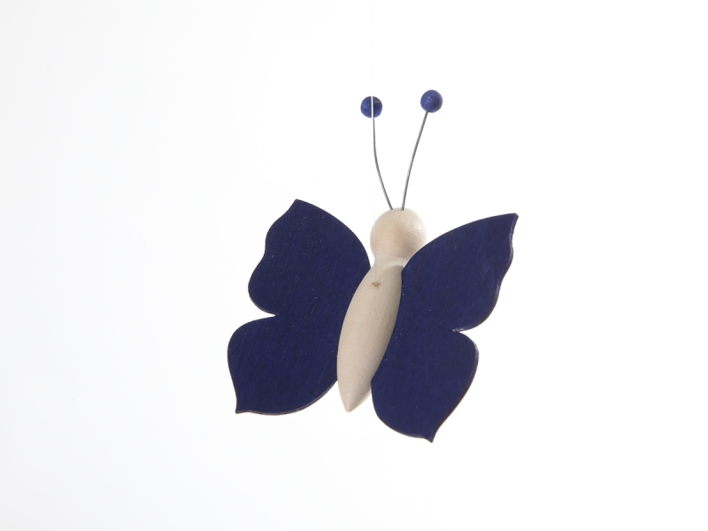 ... hier: Kinderkamerlampen.nl → Accessoires → Houten vlinder (Blauw