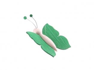 Kinderkamer lamp accessoire: Houten vlinder (Groen)