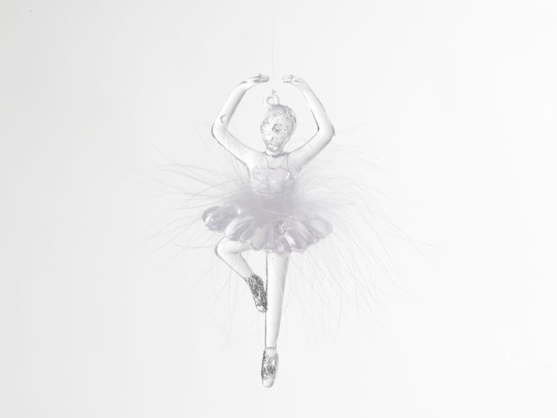 Kinderkamer lamp accessoire: Ballerina met veren (Doorschijnend ...