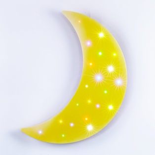 Kinderkamer lamp: Little Moon Yellow