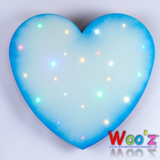 Kinderkamer lamp: Little Heart Blue