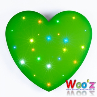 Kinderkamer lamp: Little Heart Green