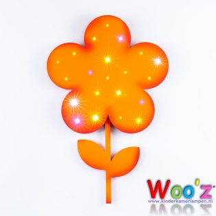 Kinderkamer lamp: Little Flower Orange