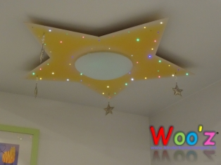 Kinderkamer lamp: Star Yellow