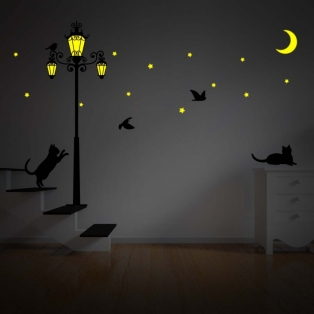 Kinderkamer lamp accessoire: Glow in the dark Streetlight