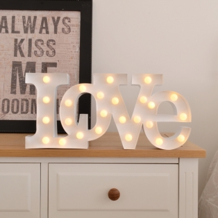 Carnival Lamp Love White