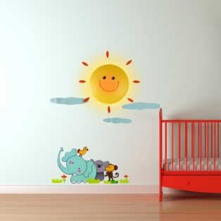 Kinderkamer lamp: wandlamp sunshine sticker