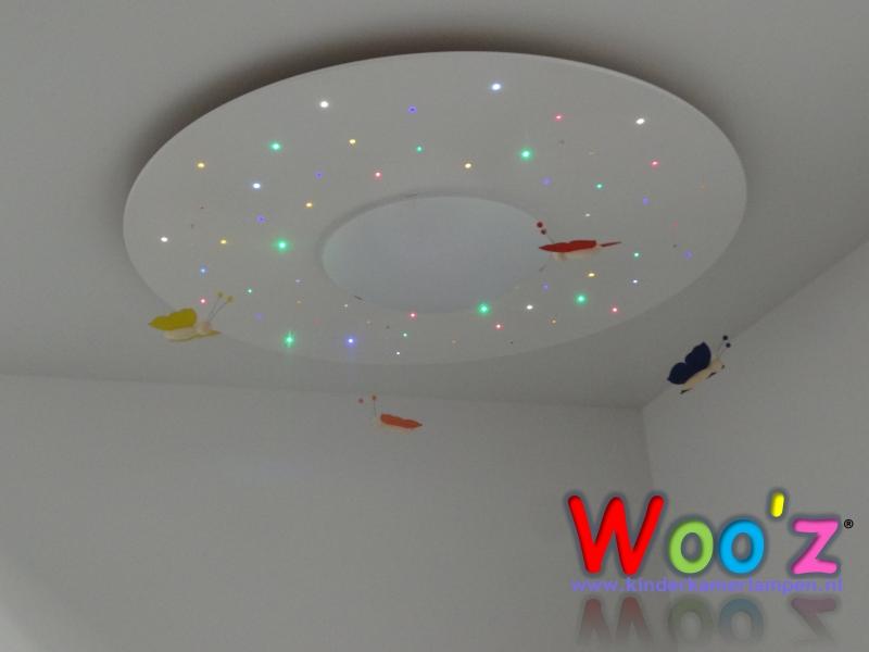 Lamp Kinderkamer Design : Kinderkamer plafondlamp: circle sparkling white kinderkamerlampen.nl