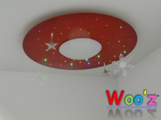 Kinderkamer lamp: Circle Red