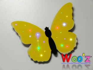 Kinderkamer lamp: Little butterfly yellow