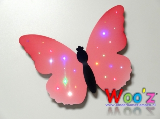 Kinderkamer lamp: Little butterfly pink