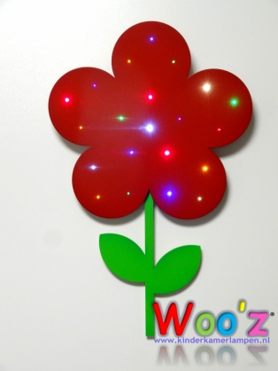 Kinderkamer lamp: Little flower red