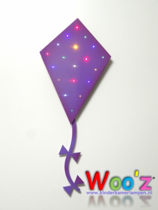 Kinderkamer lamp: Little kite Purple