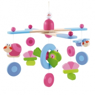 Kinderkamer lamp accessoire: Mobile Happy splash